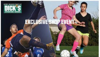 March 7 2015 Disck Sporting Goods CVYSA Club Shop Day 20 Percent Discounts