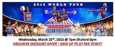 2015 Harlem Globetrotters World Tour Discount Ticket Offer