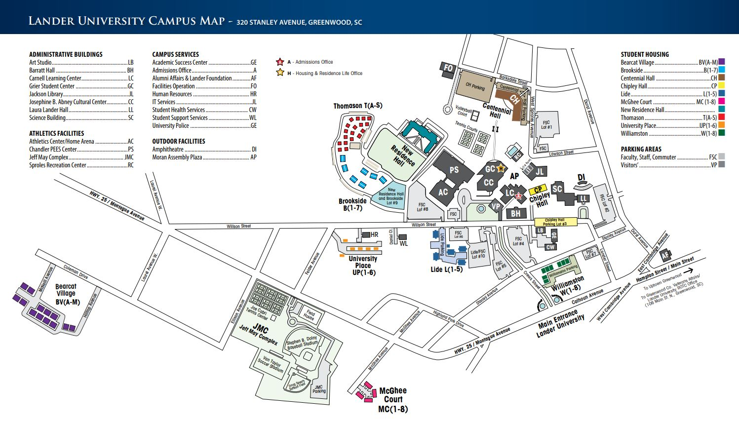 Lander Campus Map.Camp Slam Llc Lander Wbb Powered By Oasys Sports